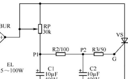 單向晶閘管調光燈電路的工作原理