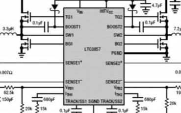 利用LTC3857/-1双输出同步降压型控制器延长汽车电池运行时间