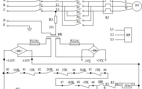 4层4站电梯PLC控制原理图设计