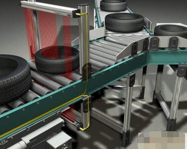 Banner EZ-ARRAY測量光幕產品實現輪胎的精確檢測