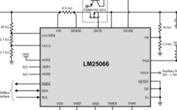 高性熱插拔控制器LM25066的性能特性及應用電...