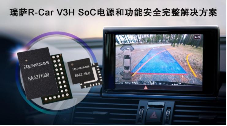 瑞薩電子推出完整的電源和功能安全解決方案,適用于R-Car V3H ADAS攝像頭系統