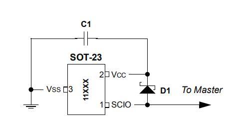 通过SCIO为UNI/O总线器件供电