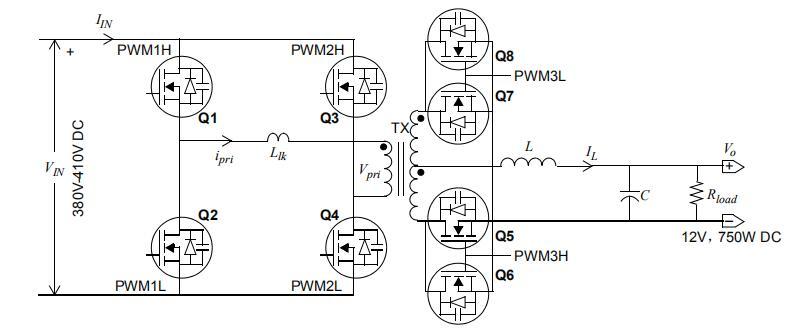 采用数字斜率补偿的峰值电流控制ZVS全桥转换器