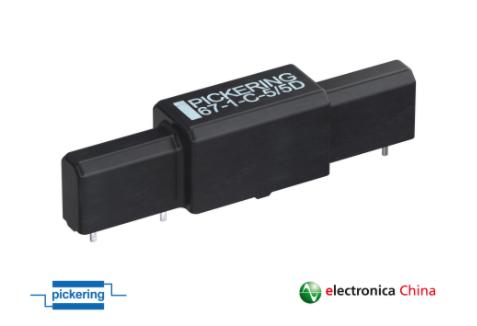 Pickering推出节省空间且设计简化的  新款耐高压SPDT C型舌簧继电器