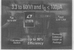 基于LT1976单片降压开关稳压器的汽车降压系统的解决方案