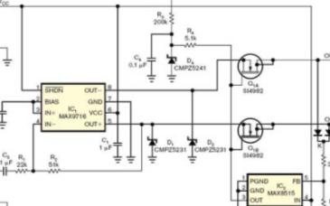 免受过载电压影响的放大器保护网络的电路设计