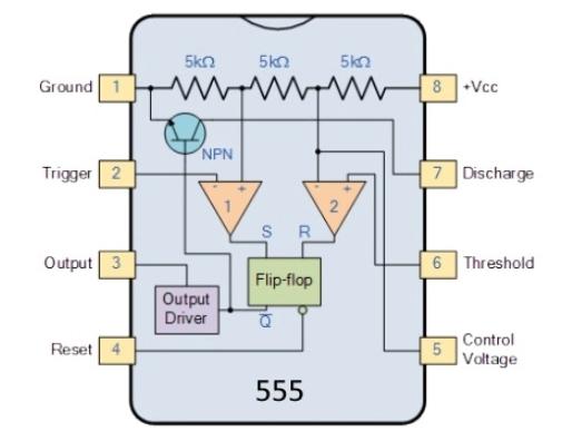 555定时器IC在静态模式下的消耗零电流及唤醒设计