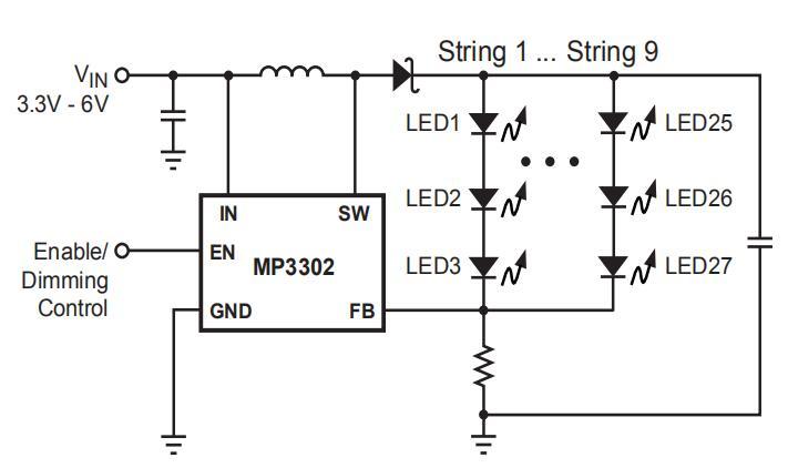 MP3302单节升压白光LED驱动器手册