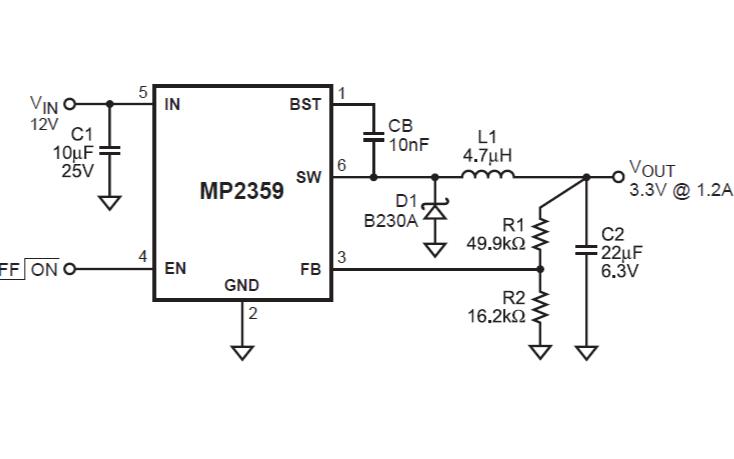 MP2359降压变换器的数据手册免费下载