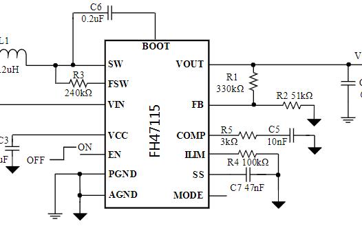 高功率密度同步升压转换器芯片FH47115