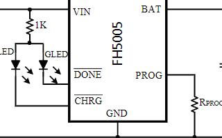 单芯锂电池恒流恒压线性充电器芯片FH5005