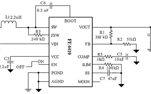 高功率密度同步升压转换器芯片FH4410
