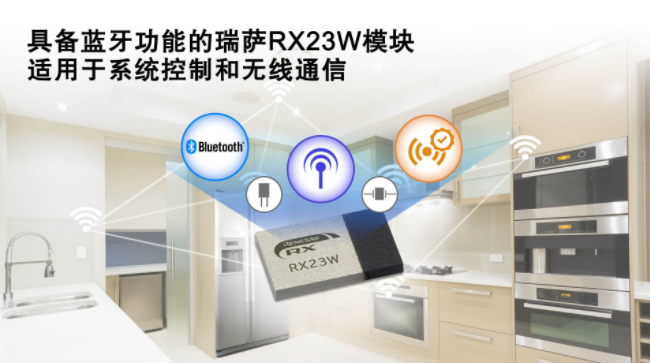 瑞萨电子推出具备蓝牙功能的RX23W模块,适用于物联网设备的系统控制与无线通信