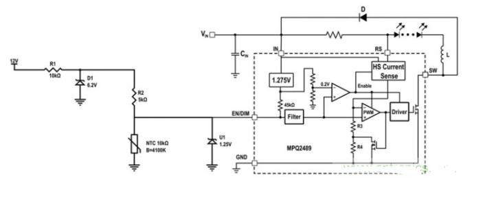 简单的汽车调光LED温度控制设计方案