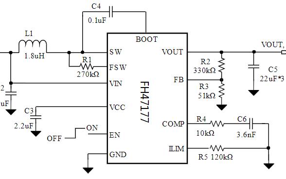 高功率同步整流升压DC-DC转换器芯片FH47177