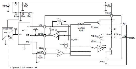 汽车LIN总线MC33662的性能特性及应用范围