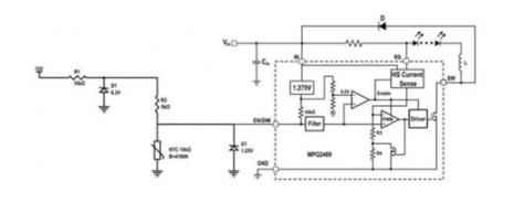 基于NTC電阻(負溫度系數)的簡單電路解決方案
