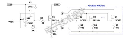利用可擴展電流負載提供恒定電阻模式
