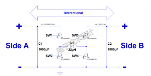 用碳化硅MOSFET設計雙向降壓-升壓轉換器