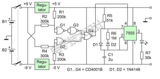 小小一個電路幫你辨別電池過放電
