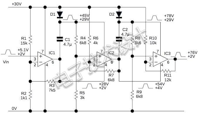 用模擬電荷泵產生高頻高壓脈沖