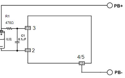 单节锂电池可再充电电池的保护芯片MX2201B