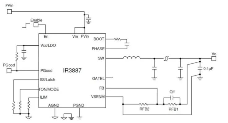 基于負載恒定電壓點穩壓器OptiMOS TM IPOL設計