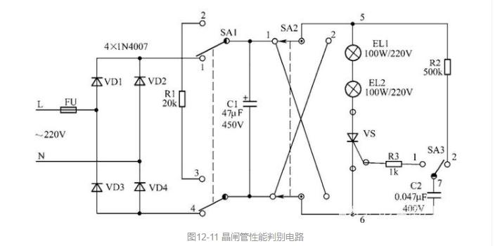 晶閘管性能判別電路的工作原理