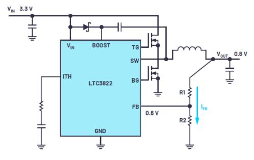 使用標準穩壓器產生極低電壓