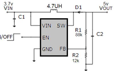 恒定频率DC-DC升压转换器芯片SB628X数据手册