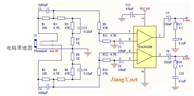 超重低音耳机放大器电路