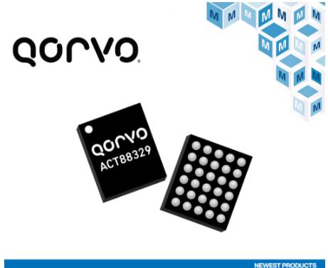貿澤電子開售Qorvo ACT88329和ACT88321,可多次編程電源管理IC