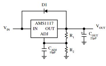 单芯片电源充电管理芯片AMS1117数据手册
