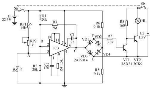 电子体温表电路的工作原理