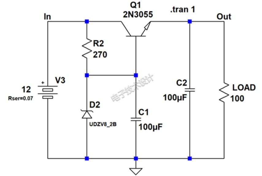 齐纳二极管稳压器特征原理