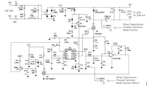 非隔离式电源的共模电流可能成为一个电磁干扰源?