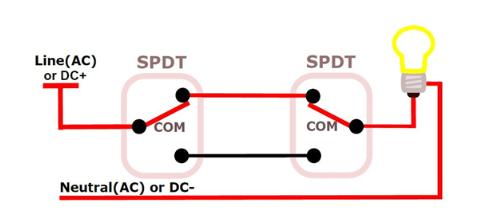 如何將DPDT開關作為多路開關進行4路接線