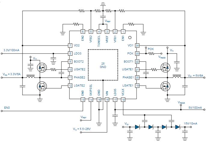 雙同步降壓控制器芯片uP6182數據手冊