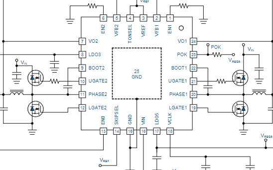 双同步降压控制器芯片uP6182数据手册