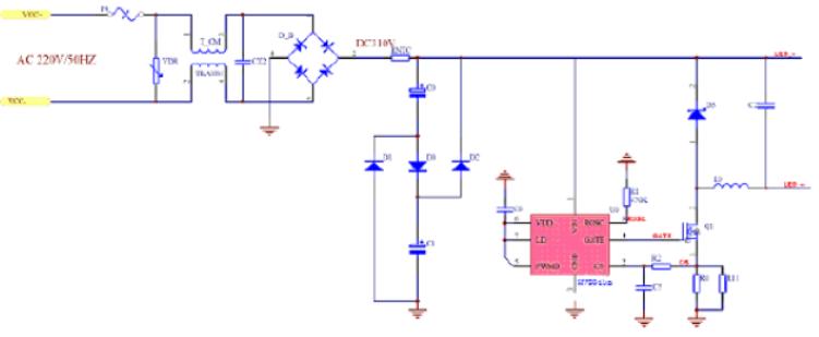 高效率LED驅動控制芯片HV9910B數據手冊