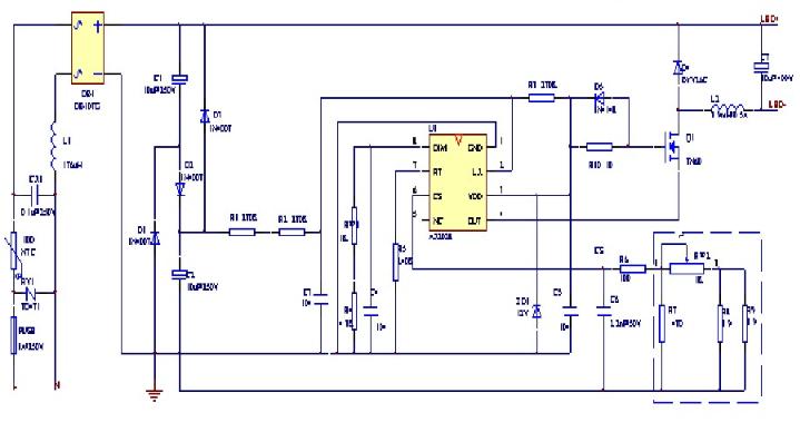 高效高性能LED恒流驅動電源芯片AX2028