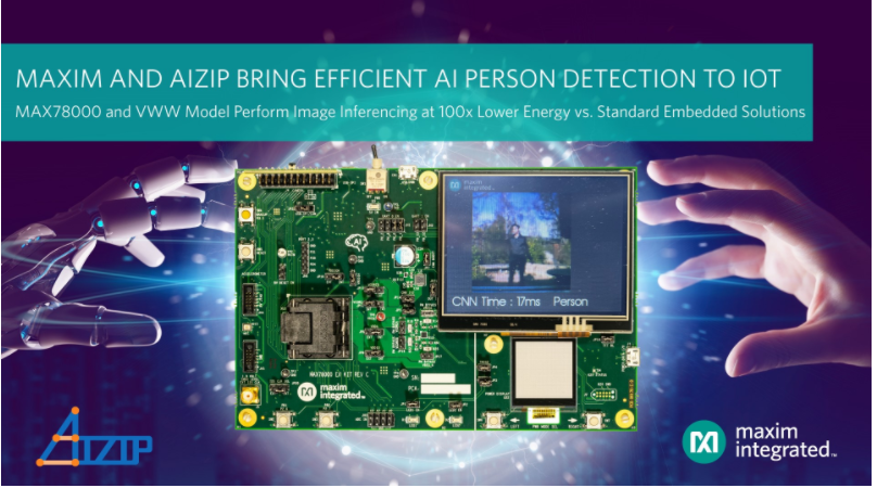 Maxim Integrated宣布與Aizip達成合作,為業界提供最低功耗的IoT人形識別方案