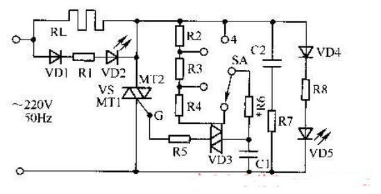 可控硅做的電爐功率調節電路