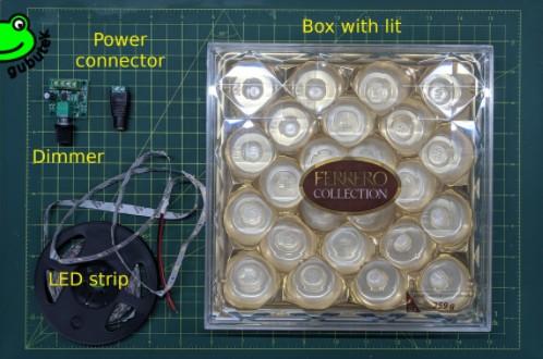 如何用空糖果盒制作LED面板?