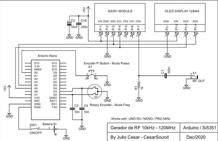 基于VFO/RF发生器制作无线电设备的方法