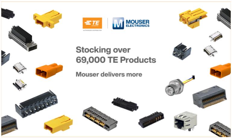 贸泽备货多样化的TE Connectivity解...