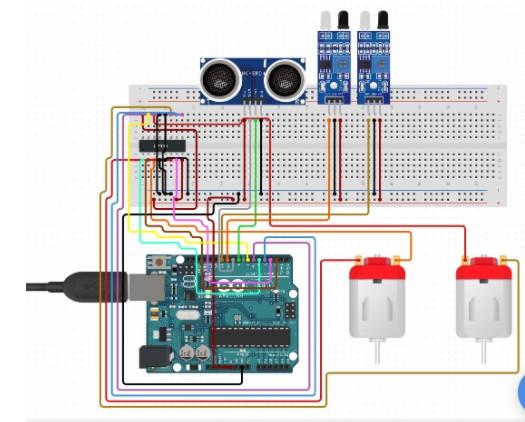 基于使用Arduino板及電機驅動器對機器人進行...
