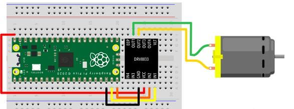如何用RaspberryPi Pico来控制直流...