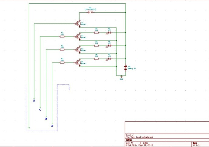 基于晶體管水位指示器電路注滿或達到預設水位發出警報